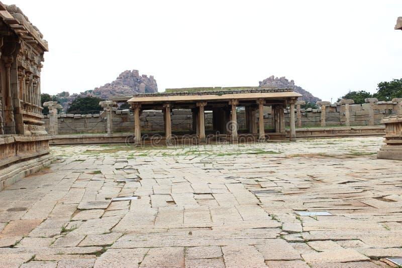 Hampi vittala temple. Ancient architecture at vittala temple hampi royalty free stock photo