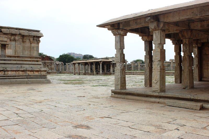 Hampi vittala temple. Ancient architecture at vittala temple hampi stock images