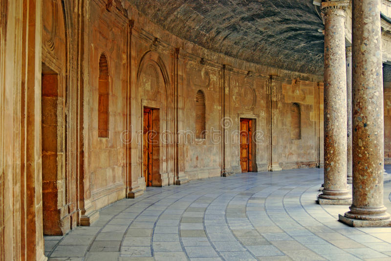 Ancient arena Alhambra Palace Granada Spain royalty free stock photos