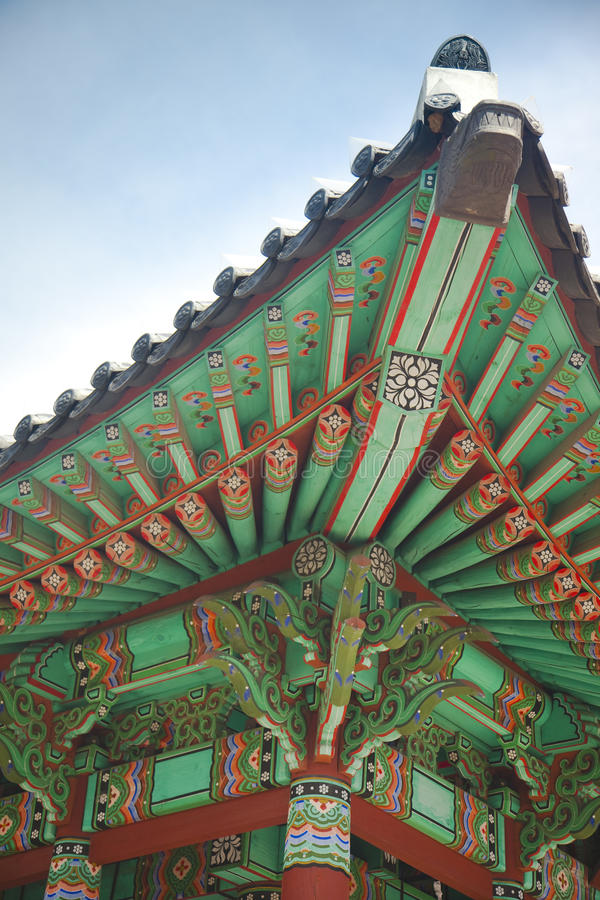 Download Ancient Asian Architecture South Korea Stock Photo