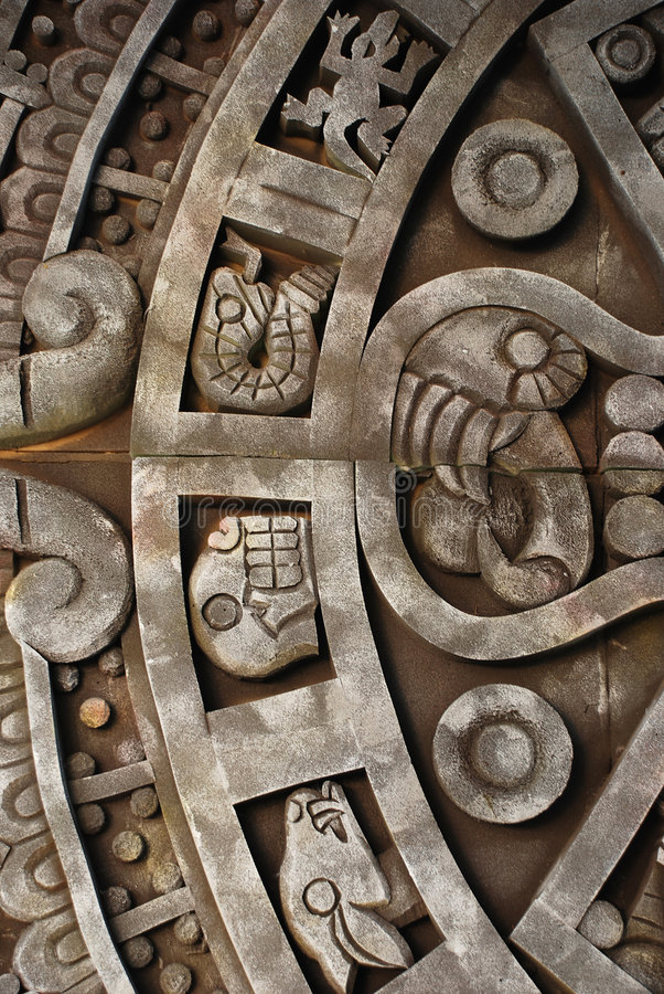 Ancient aztec calendar. Mexican heritage and traditions royalty free stock image