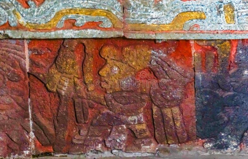 Ancient Aztec Eagle Warriors Palace Templo Mayor Mexico City Mexico stock photo