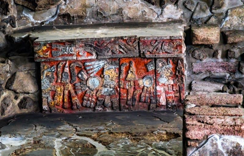 Ancient Aztec Eagle Warriors Palace Templo Mayor Mexico City Mexico royalty free stock image