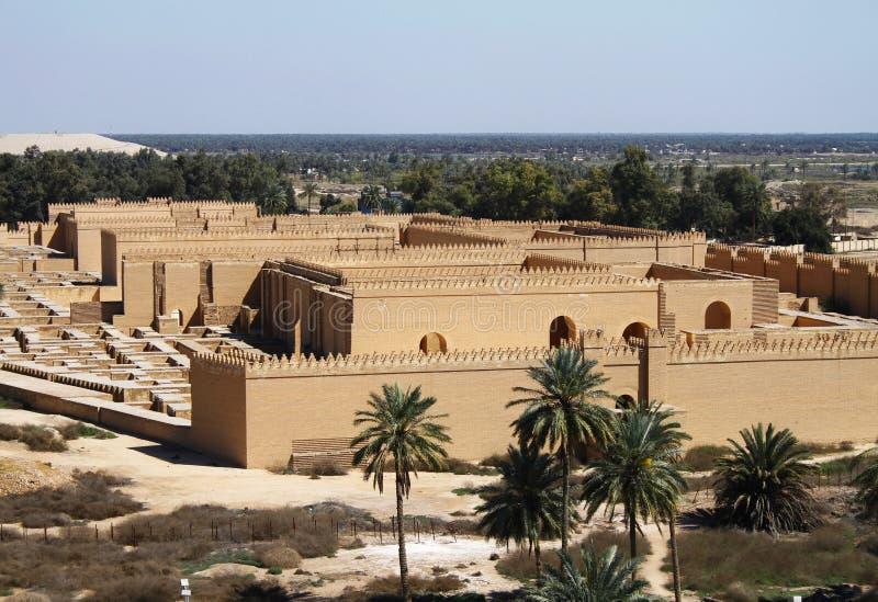 Ancient Babylon in Iraq. Restored ruins of ancient Babylon, Iraq stock images