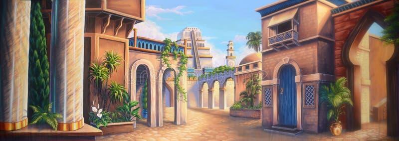 Ancient Babylon stock illustration