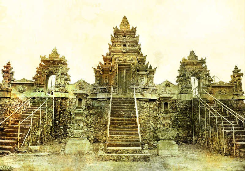 Ancient Balinese temple royalty free stock image