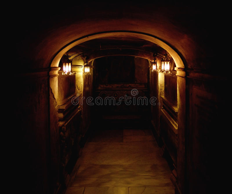 Ancient Basement Royalty Free Stock Photography