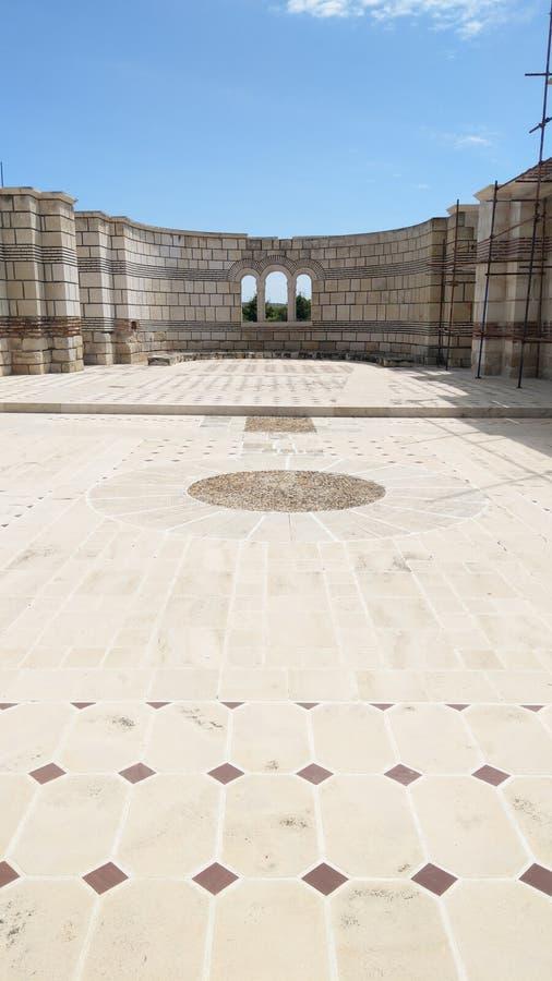 Ancient Basilica of Pliska stock photo