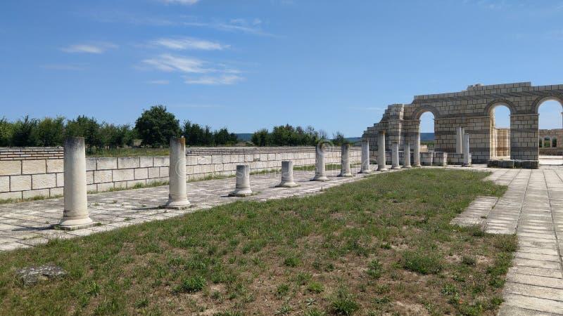Ancient basilik Pliska stock images