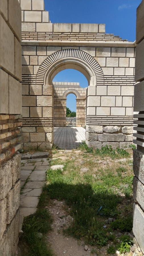 Ancient basilik Pliska royalty free stock images