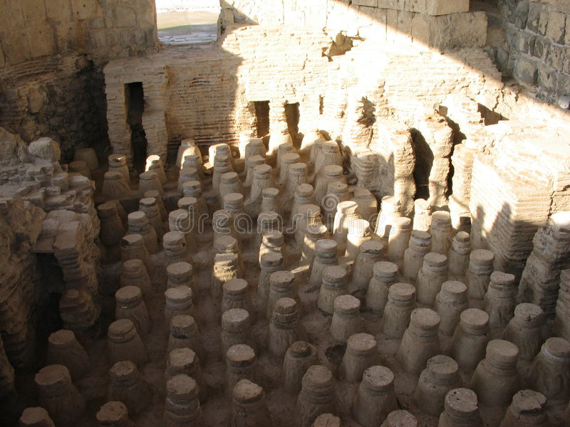 Ancient baths stock images