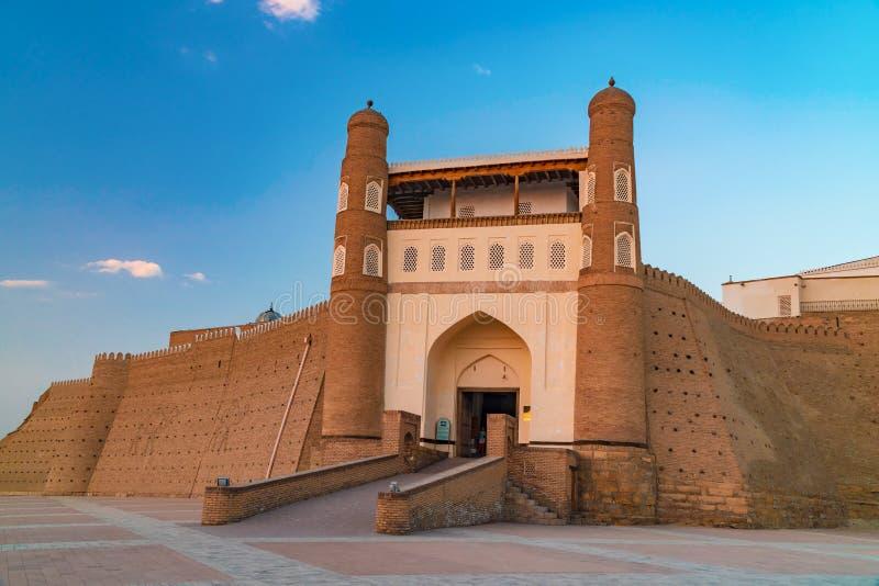 Ark in Bukhara. Ancient beautiful fortress Ark in Bukhara, Uzbekistan royalty free stock photography