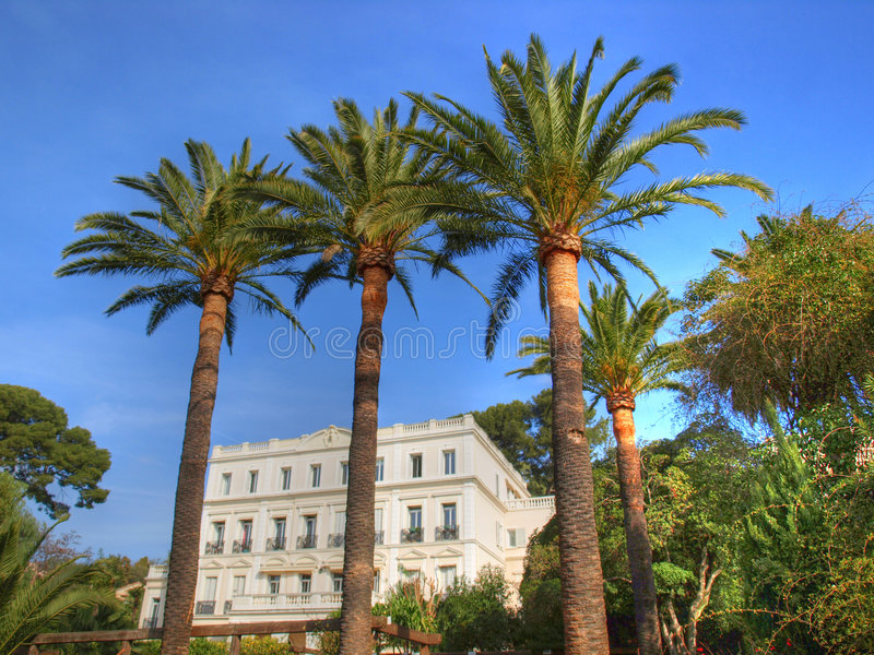 Ancient and beautuful french riviera villa royalty free stock image