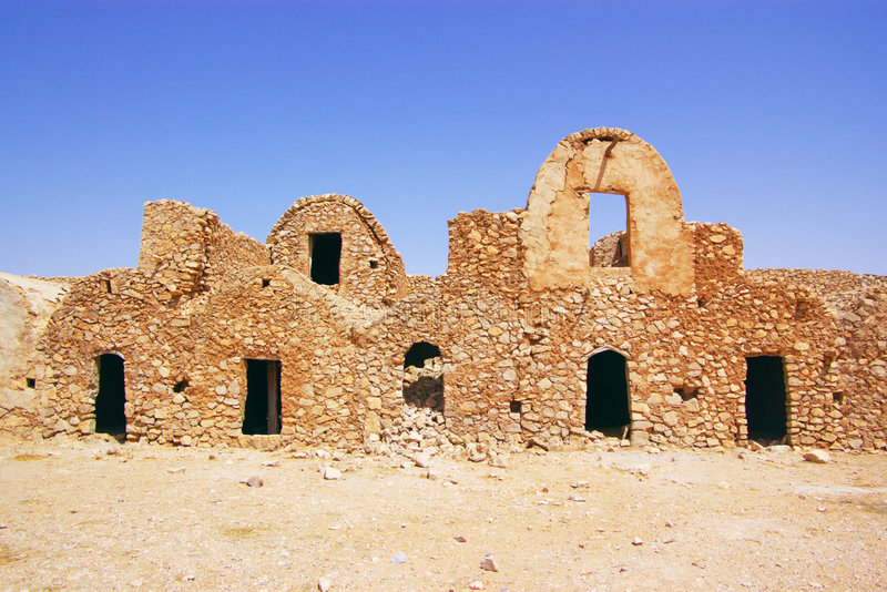Ancient Berber town royalty free stock images