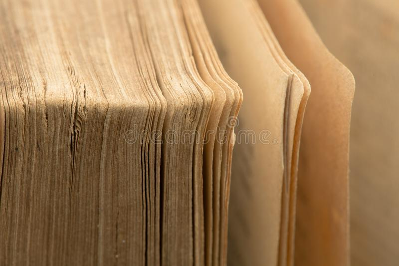 Ancient bible - old book - pages closeup. Old book - pages closeup - ancient bible royalty free stock images