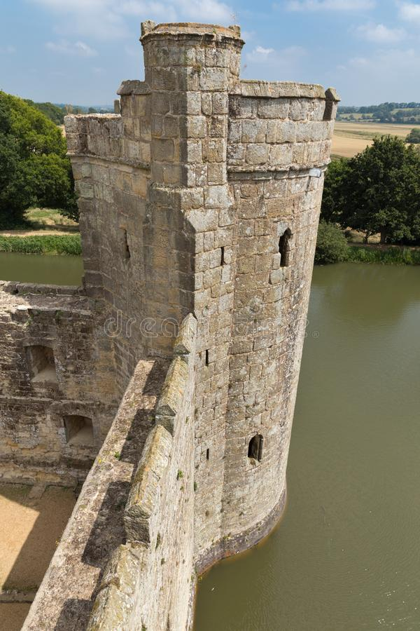 Ancient Bodiam castle in Sussex England UK royalty free stock photo