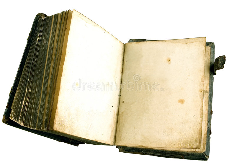 The ancient book. On a light background stock photography