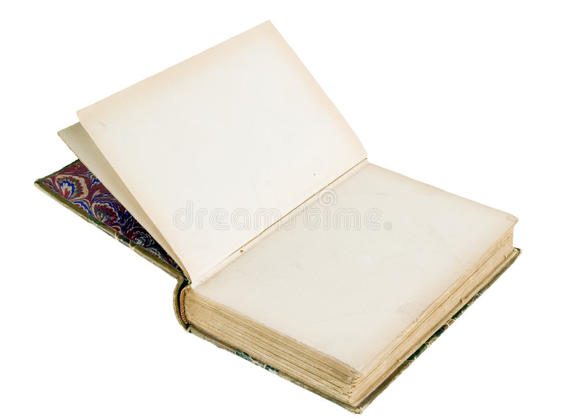 The ancient book. On a light background stock photos