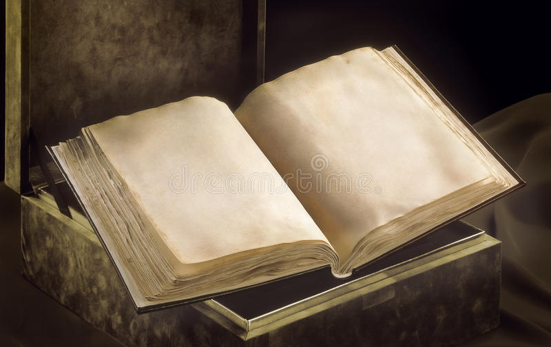 Ancient book opened royalty free stock image