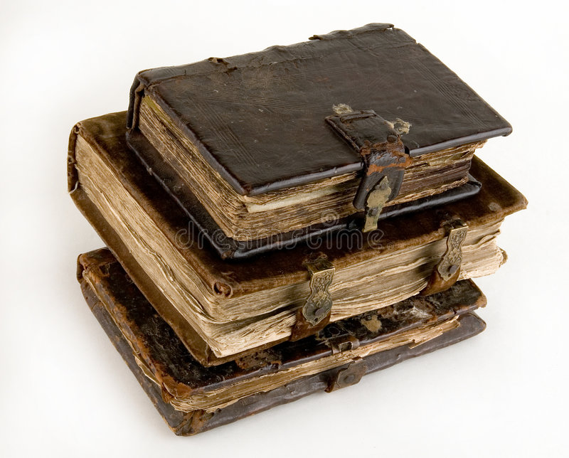 The ancient books. On a light background royalty free stock photography