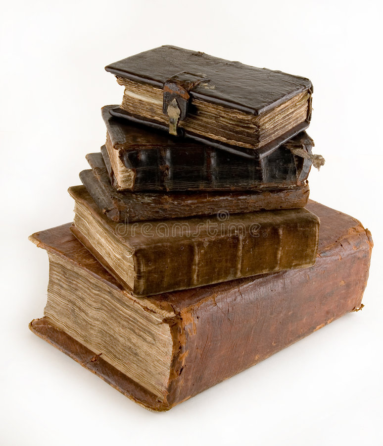 The ancient books. On a light background stock image