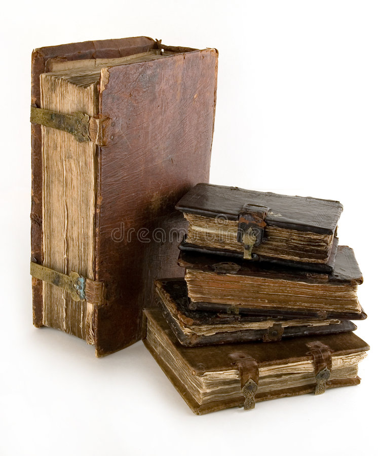 The ancient books. On a light background royalty free stock image