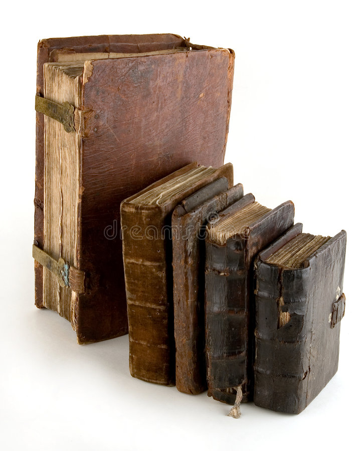 The ancient books. On a light background royalty free stock images
