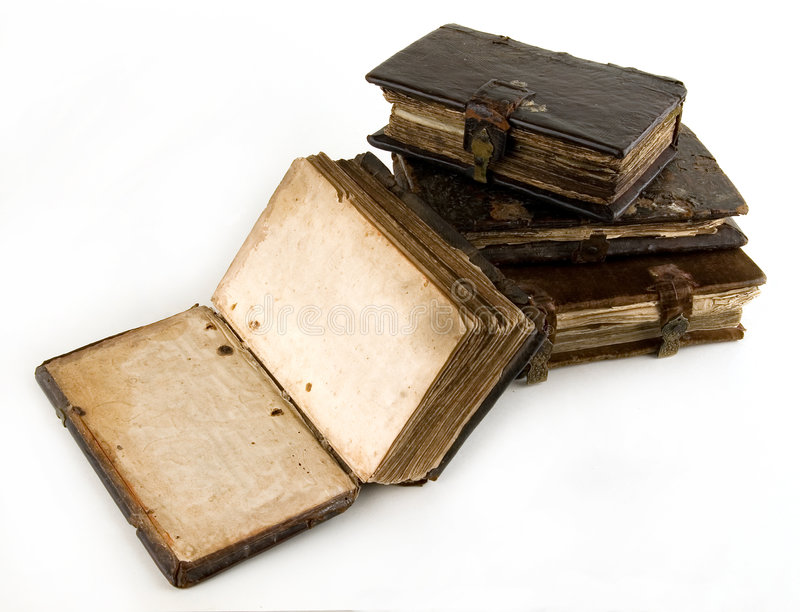 The ancient books. On a light background stock photography