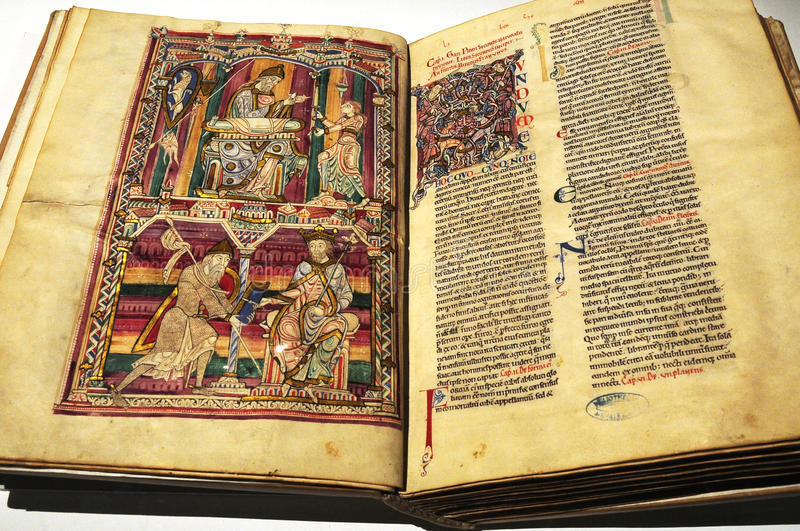 Download The Ancient Books With Picture Stock Photo - Image of unique, record: 9892430