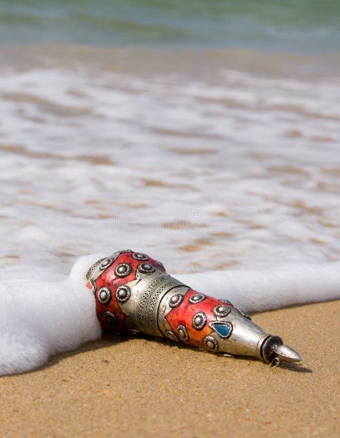 Ancient bottle cast ashore