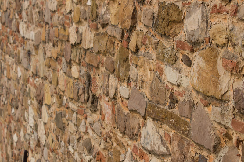 An ancient brick wall. stock image
