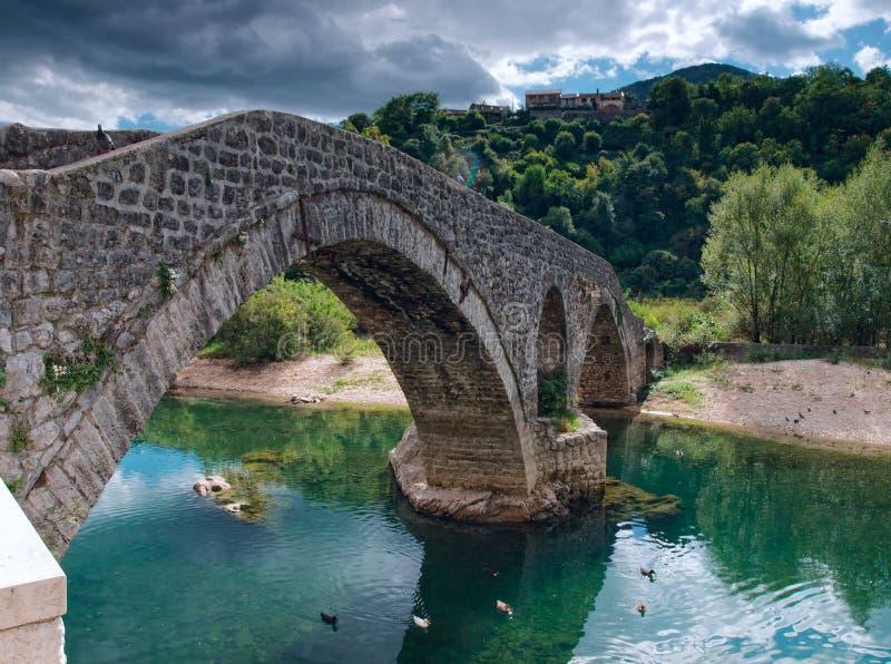 Ancient bricked bridge royalty free stock images