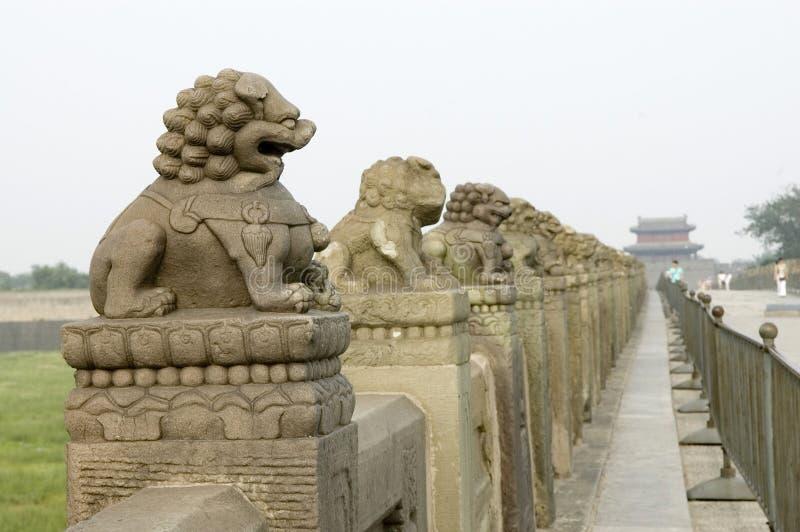 Ancient bridge of China-Lugou bridge stock photography