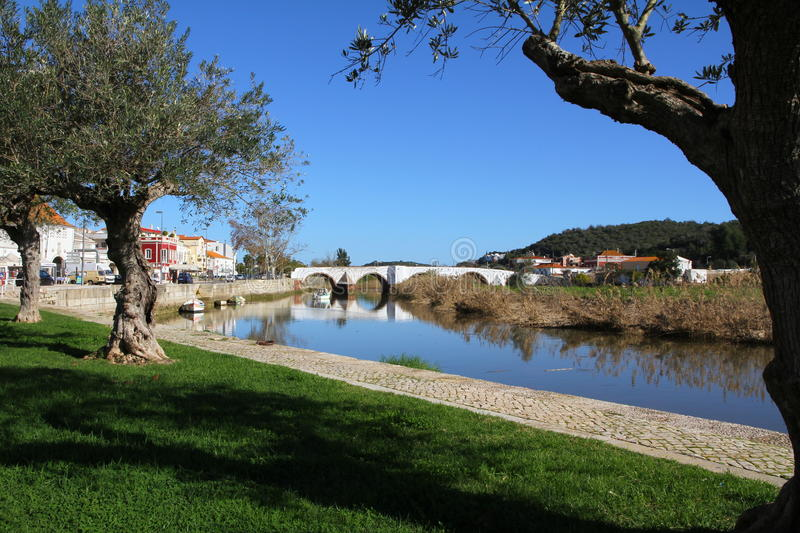 Download Ancient bridge in Silves stock photo. Image of romanesque - 28434486
