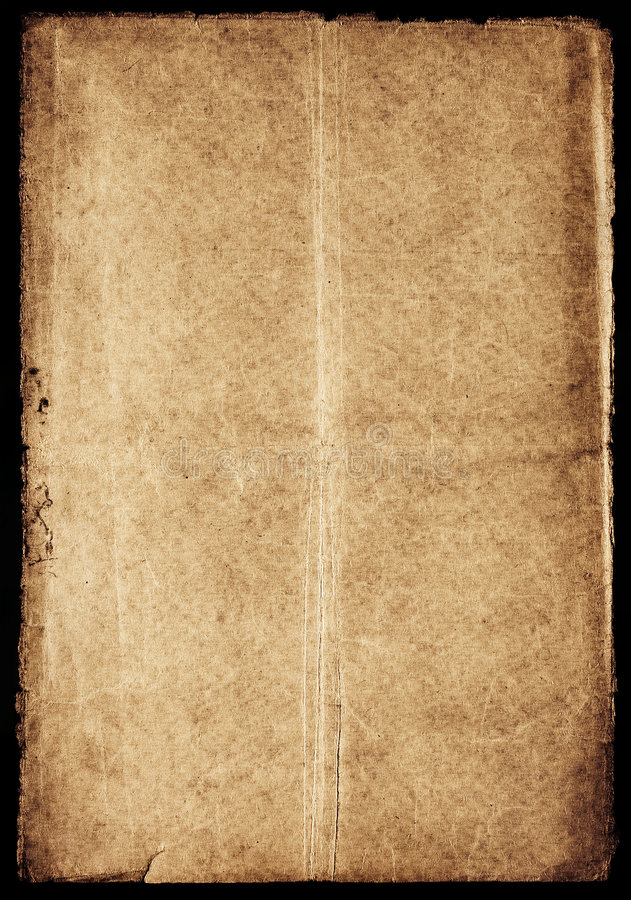Download Ancient brown paper stock image. Image of crumpled, damaged - 3364723