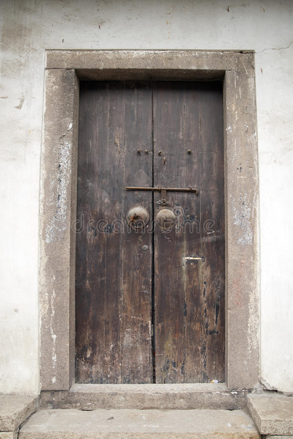 Download Ancient brown wooden door stock image. Image of ancient - 16300393
