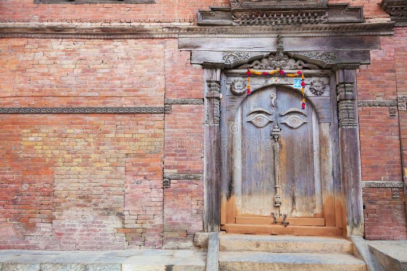 Ancient Buddha S All Seeing Eye Door, Kathmandu, Stock Photography
