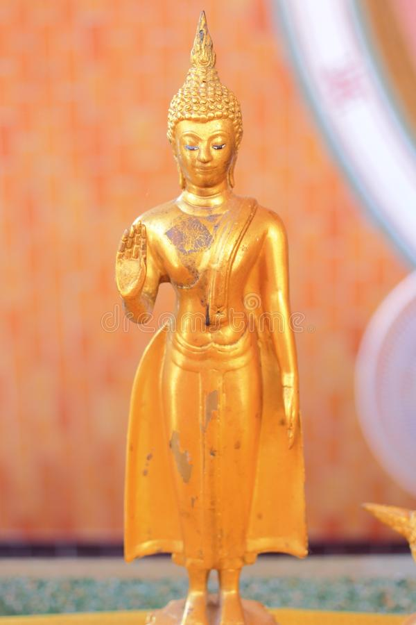 Ancient buddha statue. The image of the ancient buddha statue in local museum royalty free stock photos