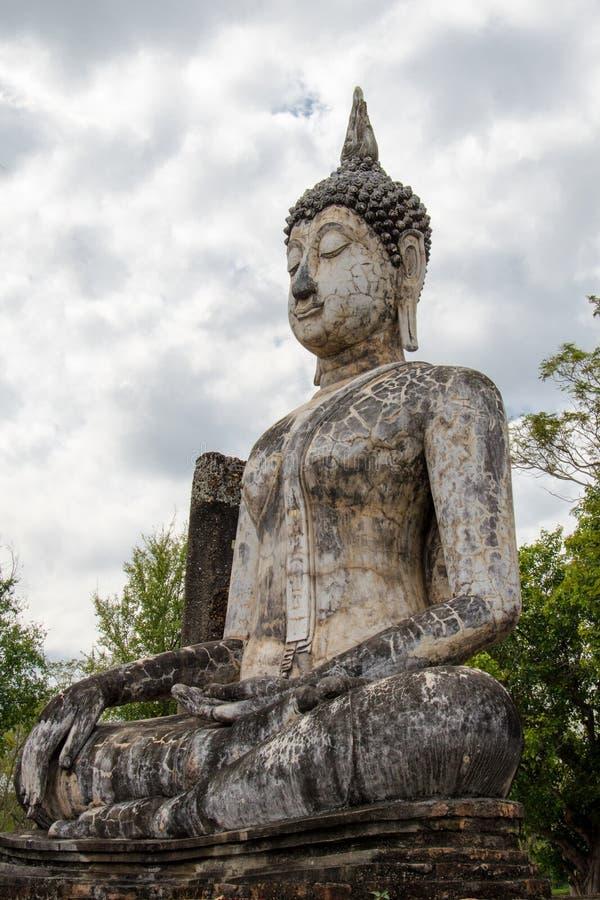 Ancient Buddha Statue in Sukhothai stock photos