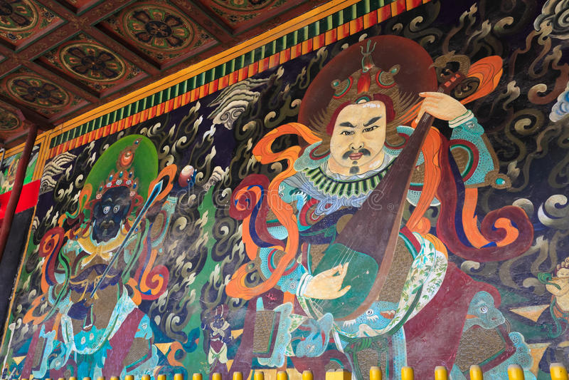 Ancient Buddhist Mural Stock Photos