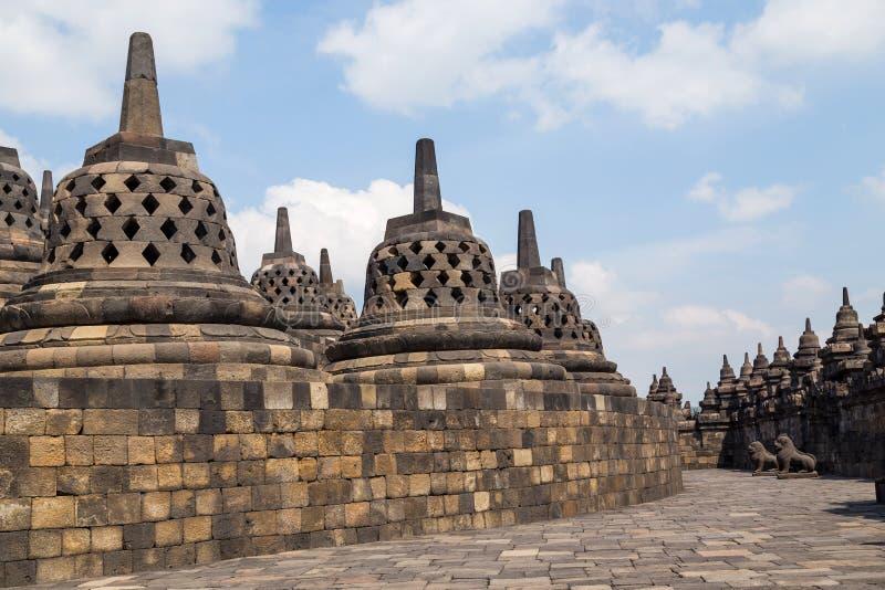Ancient Buddhist temple of Borobudur royalty free stock photo