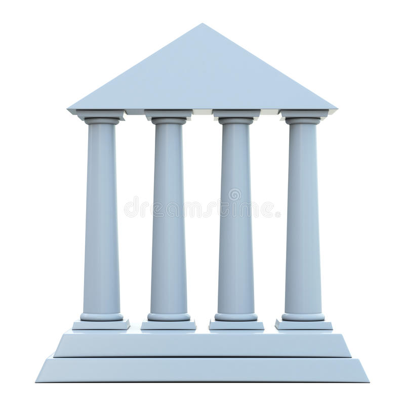 Building A House On Pillars : Ancient building with columns stock illustration