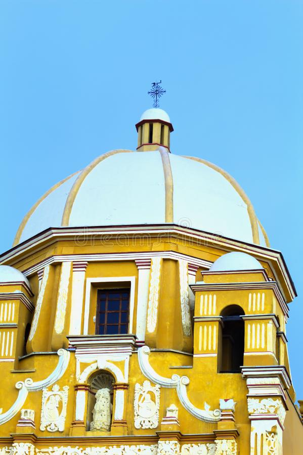 Ancient building dome of Catholic monks stock photos