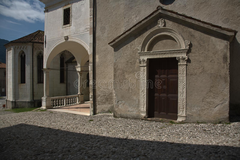 Ancient Building in Feltre, Veneto, Italy. Ancient Building in venetian style in Feltre, Veneto, Italy stock photography