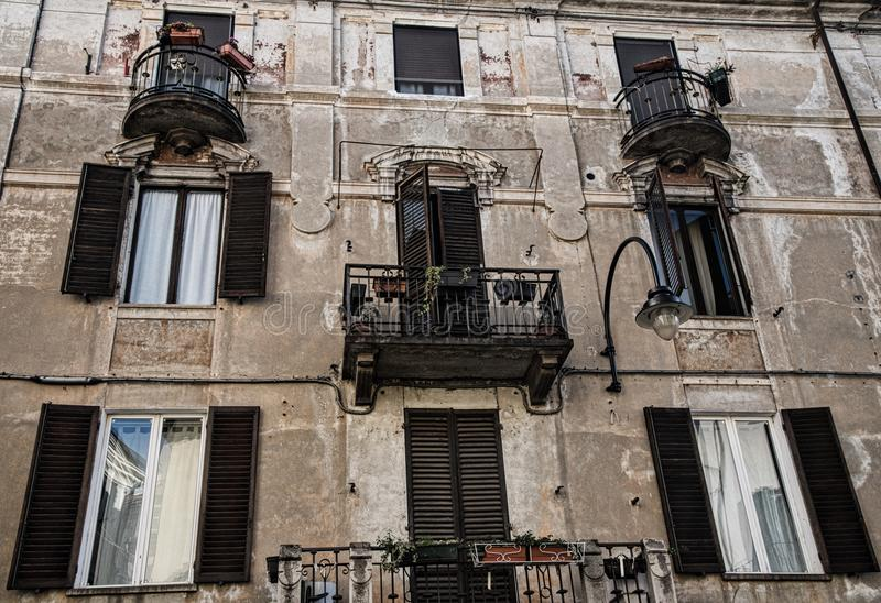 Ancient Building - Ivrea royalty free stock image
