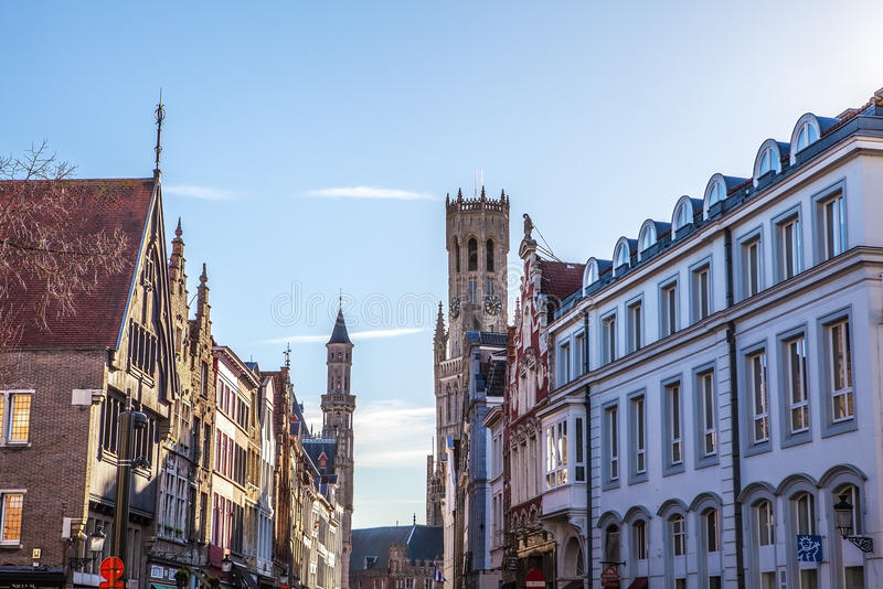Ancient building of medieval Brugge, Belgium.  royalty free stock photo