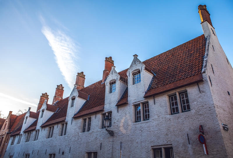 Ancient building of medieval Brugge, Belgium.  stock photography