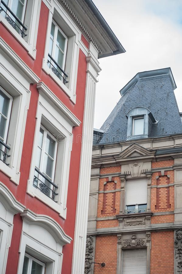 Ancient building in Mulhouse - France. Retail of ancient building in Mulhouse - France stock photos