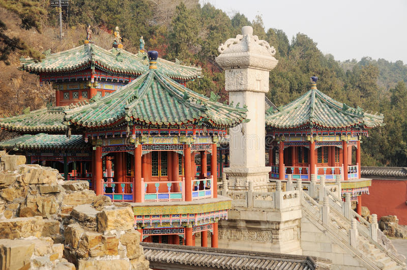 Ancient building in summer Palace stock images
