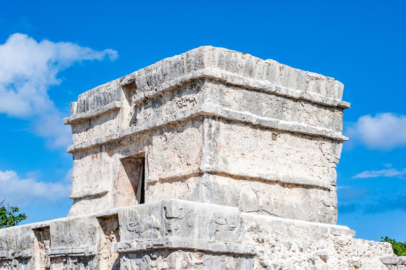 Ancient building at Tulum, Mexico stock photo
